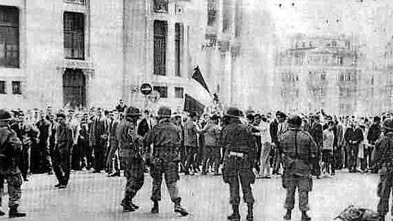 26 mars 1962 cordon de troupes