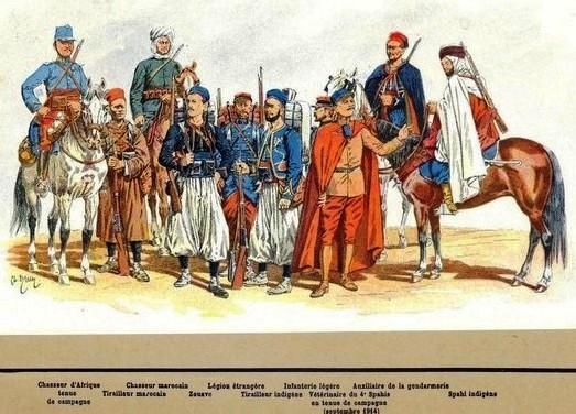 armée d'Afrique 1916