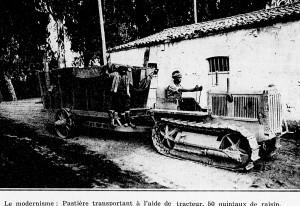 pastière et tracteur