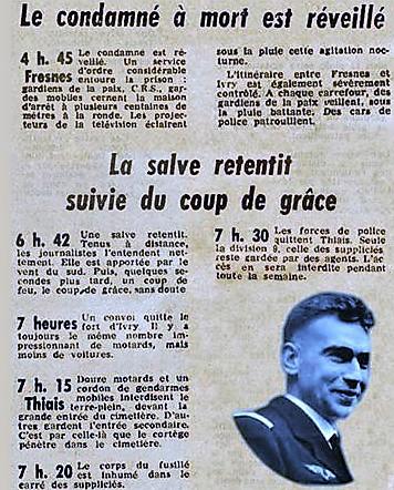 l'éxécution du 11 03 1963