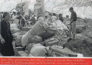 Oran MEK 1962 06 réfugiés dans le fort