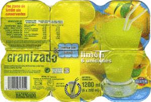 granizado de limon  super-congelado