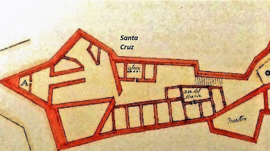 """ORAN , Fort de Santa-Cruz et chapelle """"iglesia"""" dédiée à la Sainte-Croix 1594"""